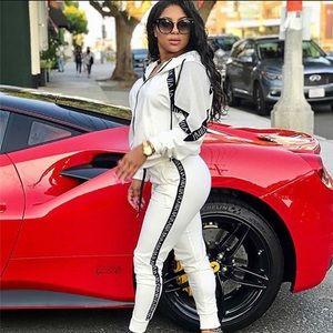 Pants - Loungewear white/black